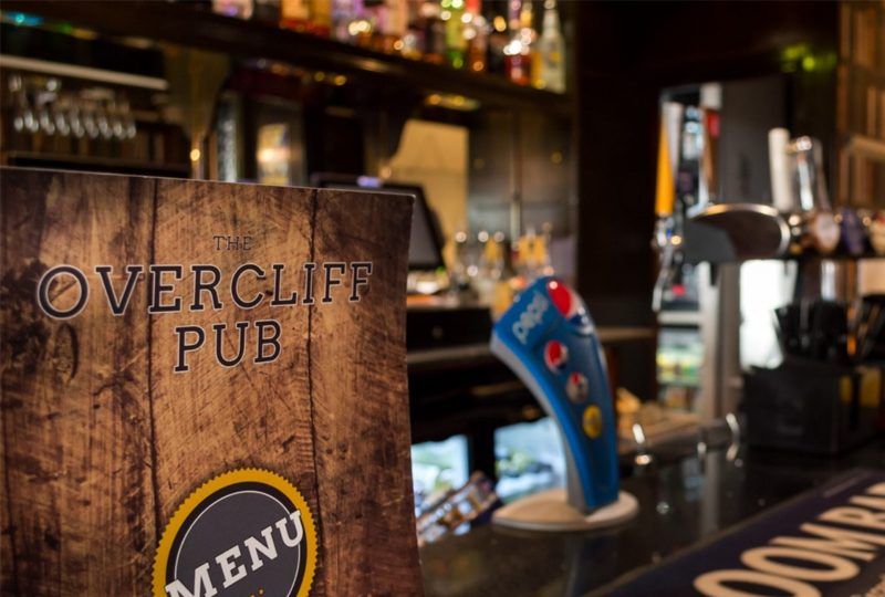 The Overcliff Pub – Traditional 2 course pub meal with hot drinks for two